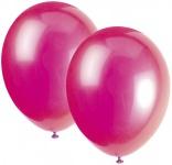 10 Luftballons Pink Fuchsia
