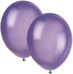 10 Luftballons Violett