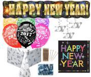 XXL 319 Teile Silvester und Neujahrs Party Deko Set 96 Personen