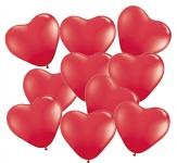10 kleine Herz Ballons Rot