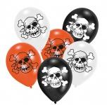 6 Jolly Roger Ballons