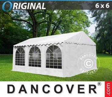 Partyzelt 6x6 m PVC Festzelt Vereinszelt Gartenzelt Bierzelt Zelt Pavillon