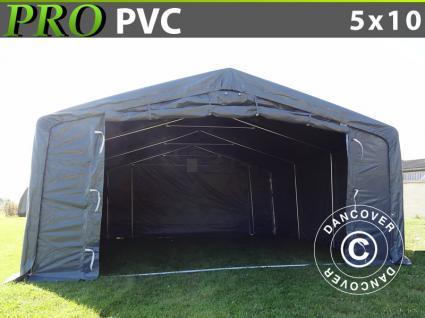 Lagerzelt 5x10x2x3, 1 PVC Garagen Zeltgarage Lagerhallen Garagenzelt Schutz Lager