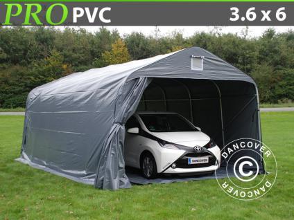 lagerzelt zelt garagen 3 6x6x2 68m m pvc mit bodenplane carport schutz zeltgarage kaufen bei. Black Bedroom Furniture Sets. Home Design Ideas