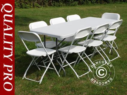 Party-Paket Klapptisch + 8 Klappstühle Tisch Stuhl - Vorschau 1