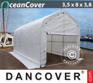 Bootzelt Garagen 3, 5x8x3x3, 8 Lagerzelt Zelt Boot Carport Garagenzelt Schutz Weidezelt