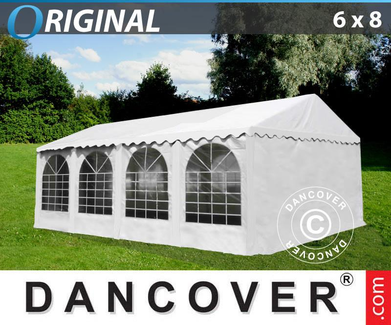 partyzelt festzelt 6x8m pvc pavillon gartenzelt kaufen bei dancover a s. Black Bedroom Furniture Sets. Home Design Ideas