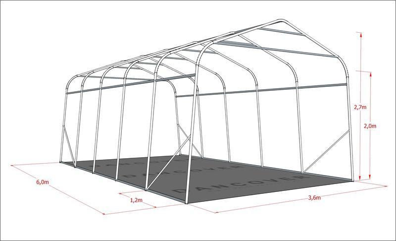 lagerzelt zelt garagen 3 6x6x2 68m m pe mit bodenplane. Black Bedroom Furniture Sets. Home Design Ideas