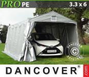 Lagerzelt Zelt Garagen 3, 3x6x2, 4m PE Carport Schutz Zeltgarage