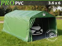 Lagerzelt Zelt Garagen 3, 6x6x2, 68M m PVC mit Bodenplane Carport Schutz Zeltgarage