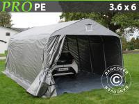 Lagerzelt Zelt Garagen 3, 6x6x2, 68M m PE mit Bodenplane Carport Schutz Zeltgarage