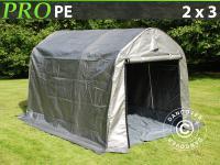 Lagerzelt Zelt Garagen 2x3x2m Schutz Zeltgarage Mit Bodenplane