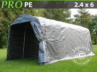 Lagerzelt Zelt Garagen 2, 4x6x2, 34m PE Grün Schutz Zeltgarage