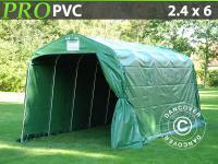 Lagerzelt Zelt Garagen 2, 4x6x2, 34m PVC Grün Schutz Zeltgarage