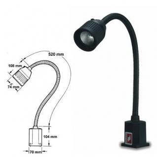 Arbeitslampe Maschinenlampe 520 mm mit Magnetfuß - Vorschau