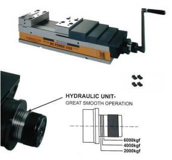 Hydraulikschraubstock 160 mm MC NC 60 kN