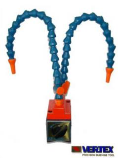 Kühlmittel-Gelenkschlauch 2 armig auf Magnetprisma - Vorschau