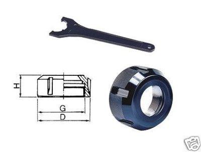Spannmutter für ER40 mit Spannschlüssel DIN6499 - Vorschau