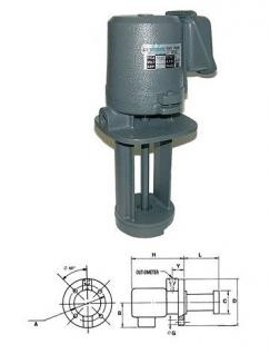Eintauchpumpe Kühlmittelpumpe 0,25 kW Tauchtiefe 180 mm - Vorschau