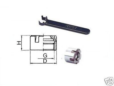 Spannmutter für ER20 Mini mit Spannschlüssel DIN6499