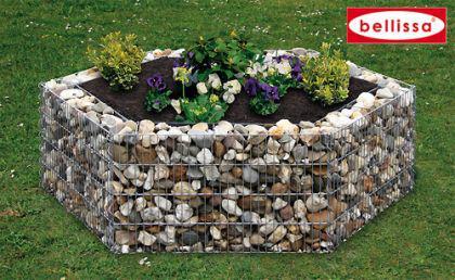 Bellissa Hochbeet 6-Eck 135x120cm Blumentopf Gabionen Gartendeko - Vorschau