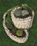Bellissa Kräuterspirale 110 x 90 cm Kräuterschnecke Hochbeet Gabionen