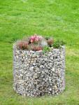 Bellissa Hochbeet Blumentopf 80 x 92 cm Gabionen Gartendeko
