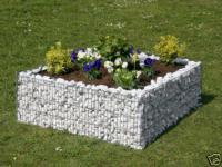 Bellissa Hochbeet 4-Eck 120x120cm Blumentopf Gabionen Gartendeko