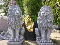 Steinfigur Löwen Paar für den Eingangsbereich