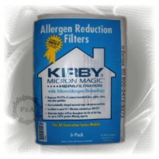 Original Kirby 6er Pack Allergen Reduction Filter