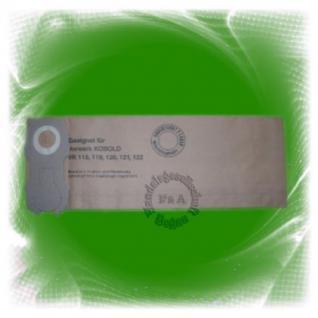 10er pack Filtertüte / Staubsaugerbeutel für Vorwerk Kobold 118/119/120/121/122