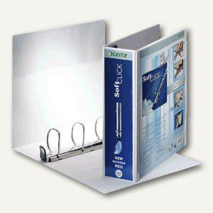 LEITZ Ringbuch Soft-Click A4, 4- Ringe-Ø 60mm, 2 Außentaschen, weiß, 4205-00-01 - Vorschau