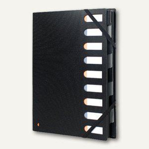 Exacompta Ordnungsmappe Exactive Harmonika, 9-tlg., PP schwarz, 55334E - Vorschau