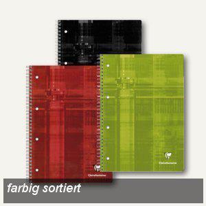 Clairefontaine Collegeblöcke, DIN A4, liniert, ohne Rand, farbig sort., 5St., 8256C - Vorschau