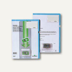 Diktathülle DIN A4, Beschriftungsfenster, Kunststoff, blau, 20 St., 2347-06 - Vorschau