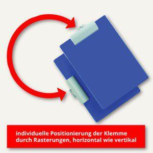 Alco Schreibplatte mit Varioklemme, DIN A4, 320 x 235 mm, blau, 5512-15 - Vorschau