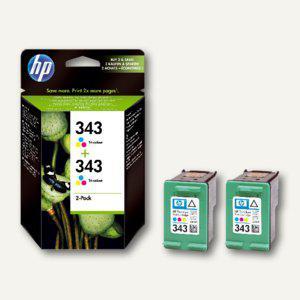 HP Tintenpatronen Nr. 343 color, 2 x 7 ml - Doppelpack, CB332EE - Vorschau