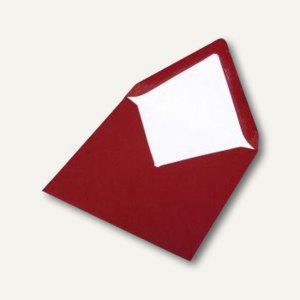 Briefumschlag mit Seidenfutter 164x164mm, nasskl., rosso gerippt, 100 Stück, 164 - Vorschau