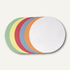 Moderatorenkarten, Kreis, Ø 14 cm, 6 Farben sortiert, 500 Stück, UMZ 14 99