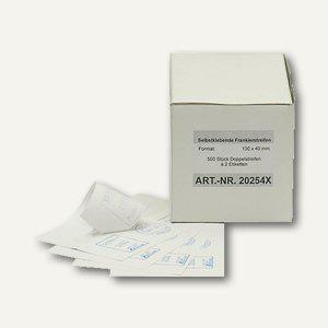 officio Frankieretiketten, 130 x 40 mm, weiß, 1.000 Stück - Vorschau