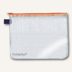 FolderSys Mehrzweck-Reißverschluss-Beutel, DIN A6, orange, 50 Stück, 40406-69 - Vorschau