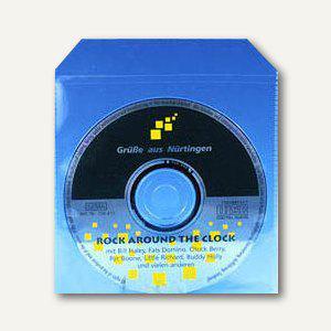 CD-Stecktasche mit Klappe, PP, 125x125x1, Klappe 30mm, 100 Stück, 99193-2 - Vorschau