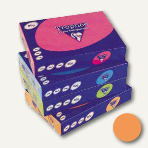 Clairefontaine Papier Trophee Intensiv, DIN A4, 80g/m², orange, 1761C