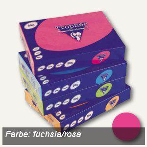Clairefontaine Papier Trophee Intensiv, DIN A4, 160g/m², fuchsia/rosa, 1017C - Vorschau