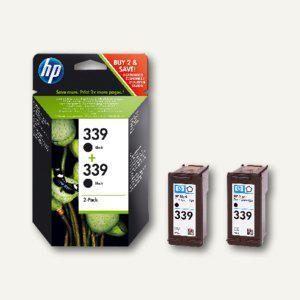 HP Tintenpatronen Nr. 339, Doppelpack, schwarz, 2 x 21 ml, C9504EE - Vorschau