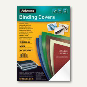 Fellowes Deckblatt Chromolux glänzend, DIN A4, 250 g/qm, weiß, 100St., 5378006