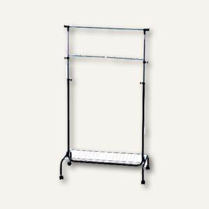Mobile fahrbare Garderobe, stufenlos höhenverstell., 90x45x121-180cm, 2831 - Vorschau