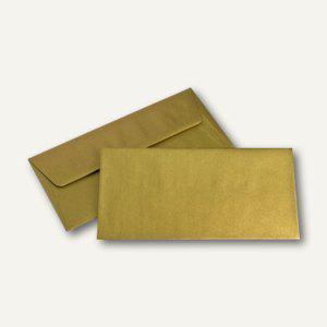 Briefumschlag DIN lang, Seidenfutter, gold, nassklebend, 100g/m², 500 St.