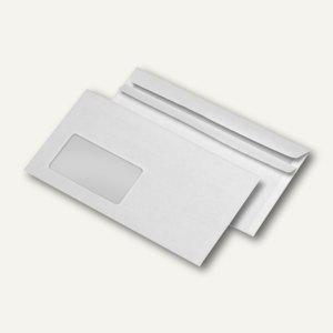 Briefumschläge DIN lang, Fenster, 75 g/m², selbstklebend, weiß, 1.000 St.