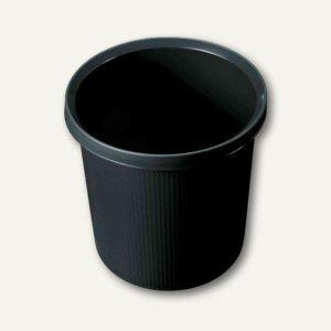 """Helit Objekt-Papierkorb """"Linear"""", 18 Liter, schwarz, H61057.95 - Vorschau"""